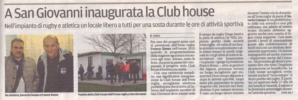 Inaugurazione Club House
