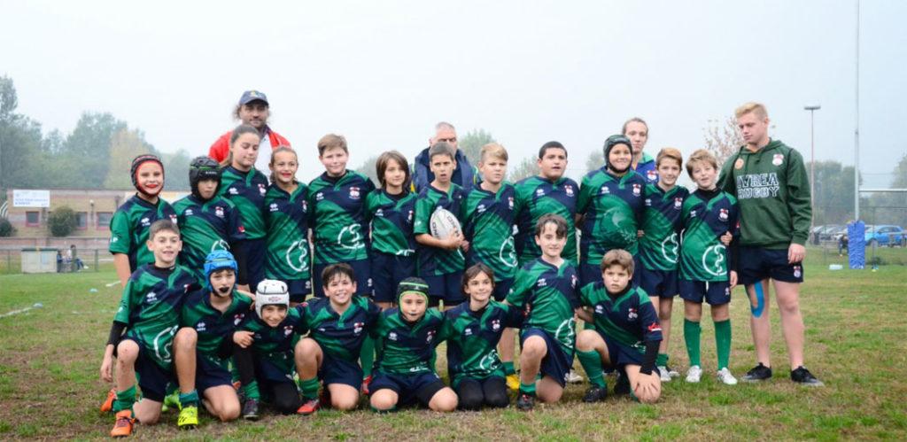 Tutte in campo le giovanili dell'Ivrea rugby in questo weekend caratterizzato purtroppo dal maltempo.